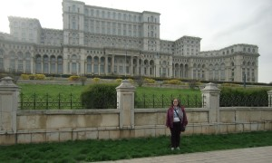 Me in front of The Palace of Parliament