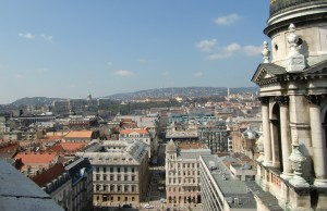 The view towards Buda from the top of the Basilica